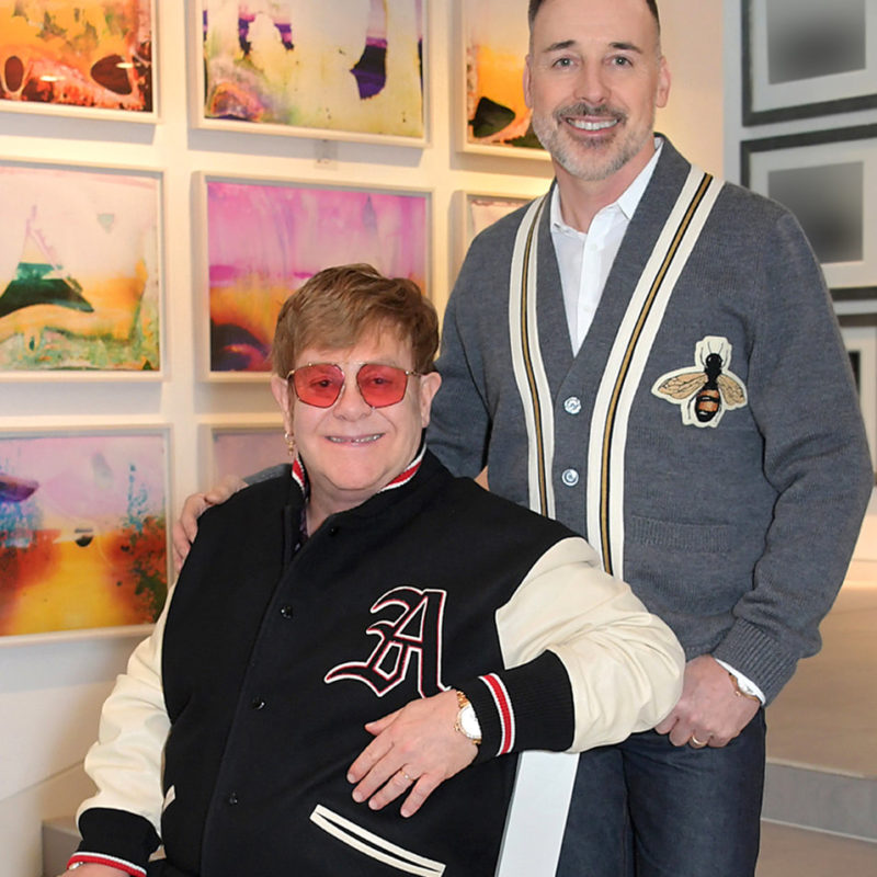sir elton john and david furnish at home in their art gallery c dave benett getty images for the v a 1 orig 1