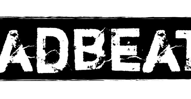MADBEAT Logo white black esteso