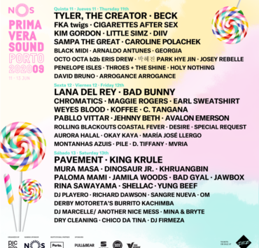 nos primavera sound 2020 flyer