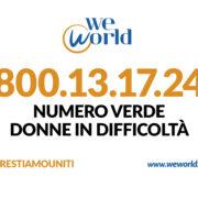 WeWorld Numero verde difficoltà