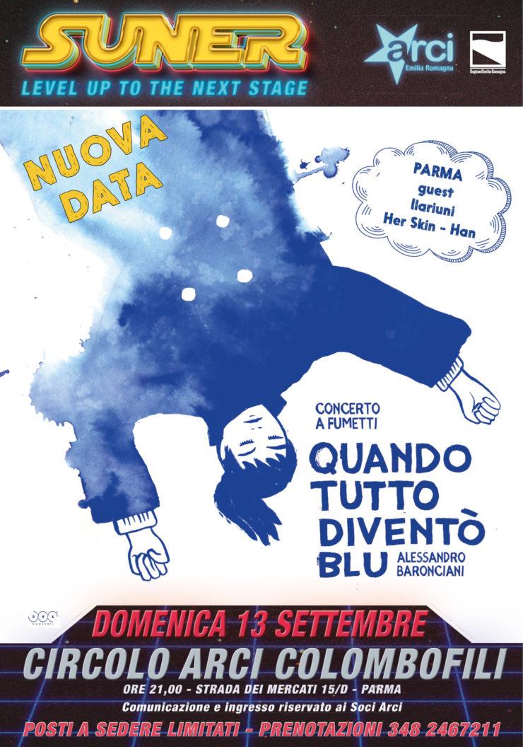 Alessandro Baronciani Quando Tutto Diventò Blu domenica 13 settembre Parma
