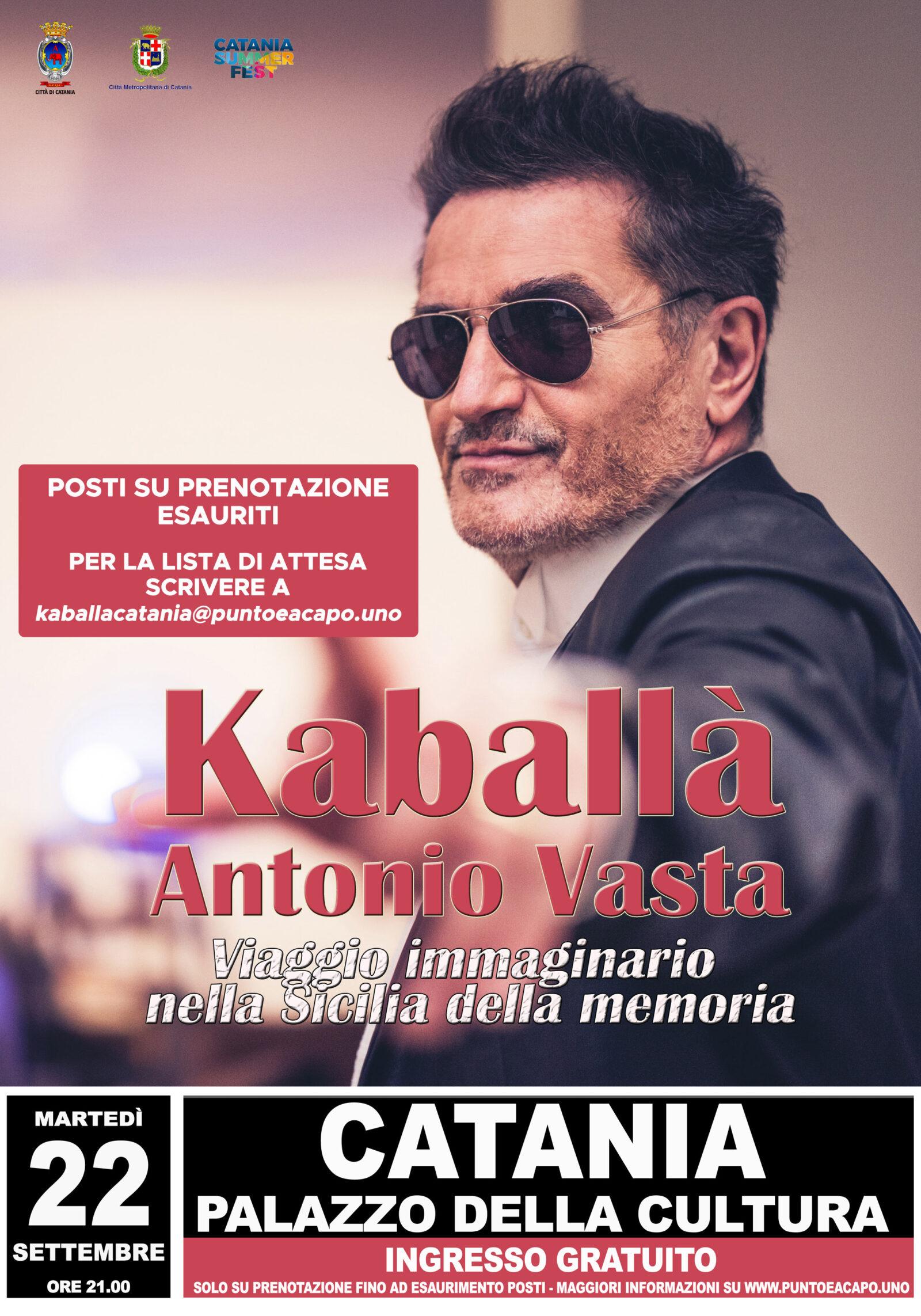 Kaballà Ct locandina aggiornata