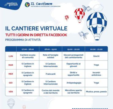 Programma settimanale Cantiere Virtuale