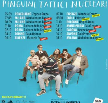 Pinguini Tattici Nucleari tour 2021 pic